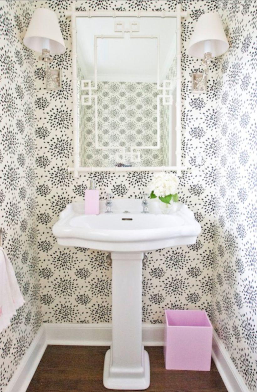 50 Stylish Black And White Wallpaper Bathrooms Decoration Ideas ...