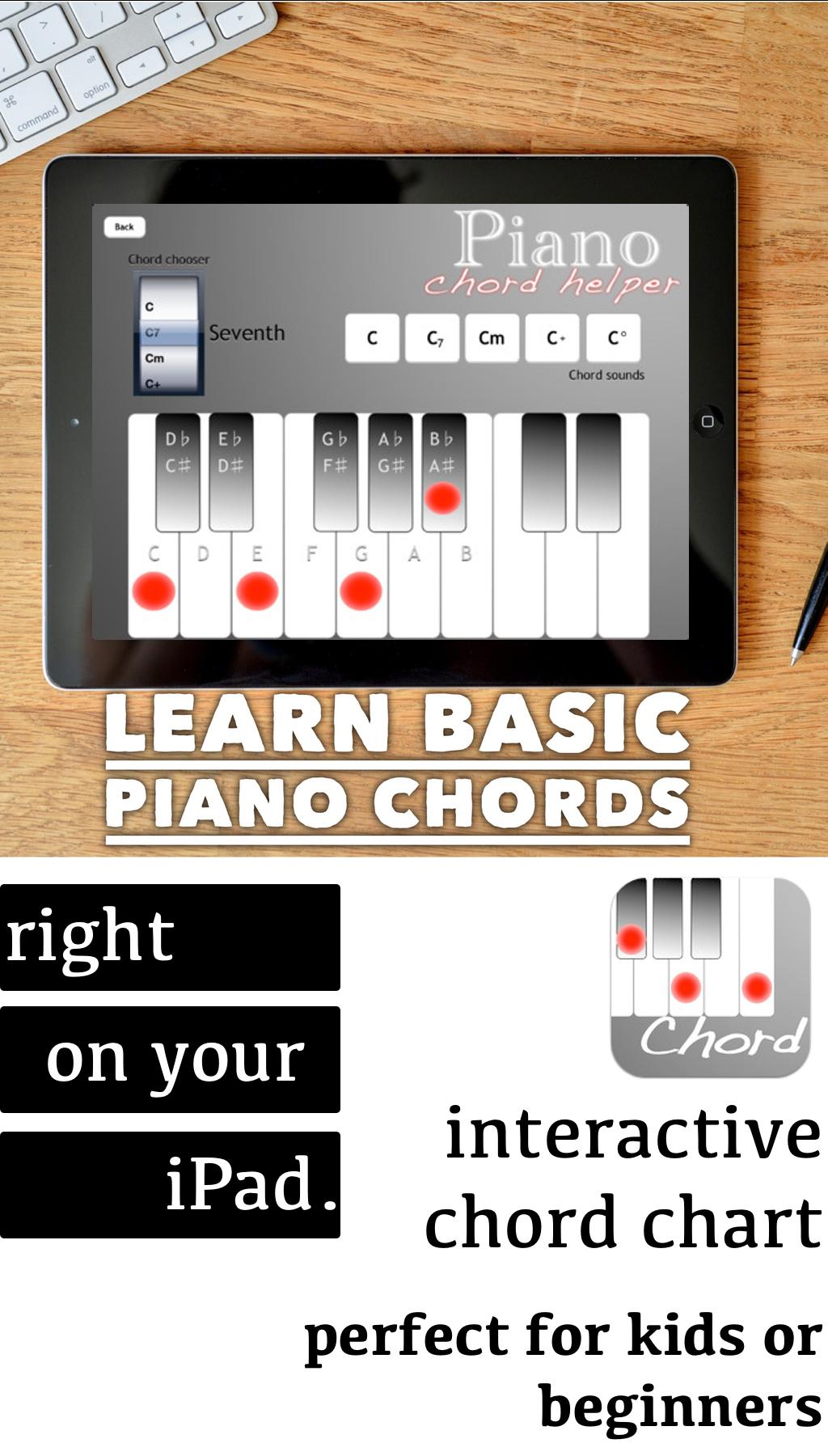 Piano Chord Helper is an app designed to help teach kids