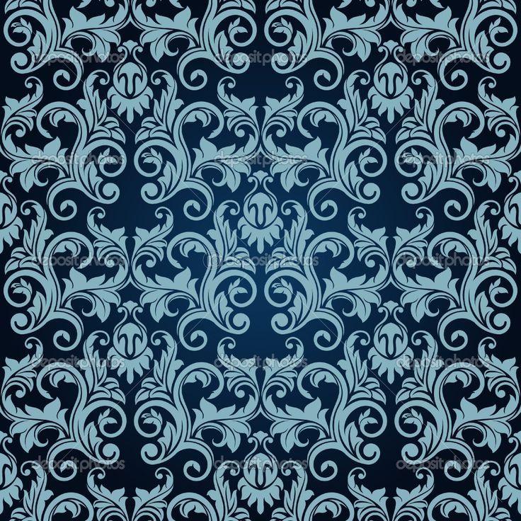 Victorian Design victorian wall paper | victorian wallpaper pattern blue | hawaii