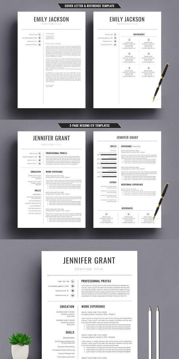 Modern Resume/CV Template Word Simple Resume Templates Pinterest - modern resume templates word