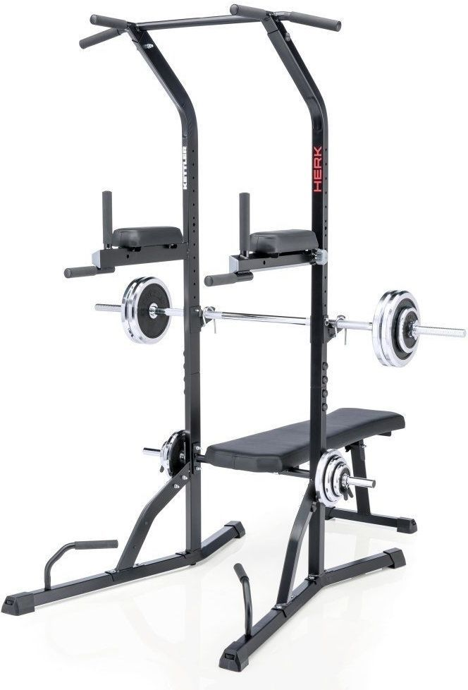 Power Tower Exercise Equipment Workout Home Gym Squat Rack Bench Press Pull  Up | EBay