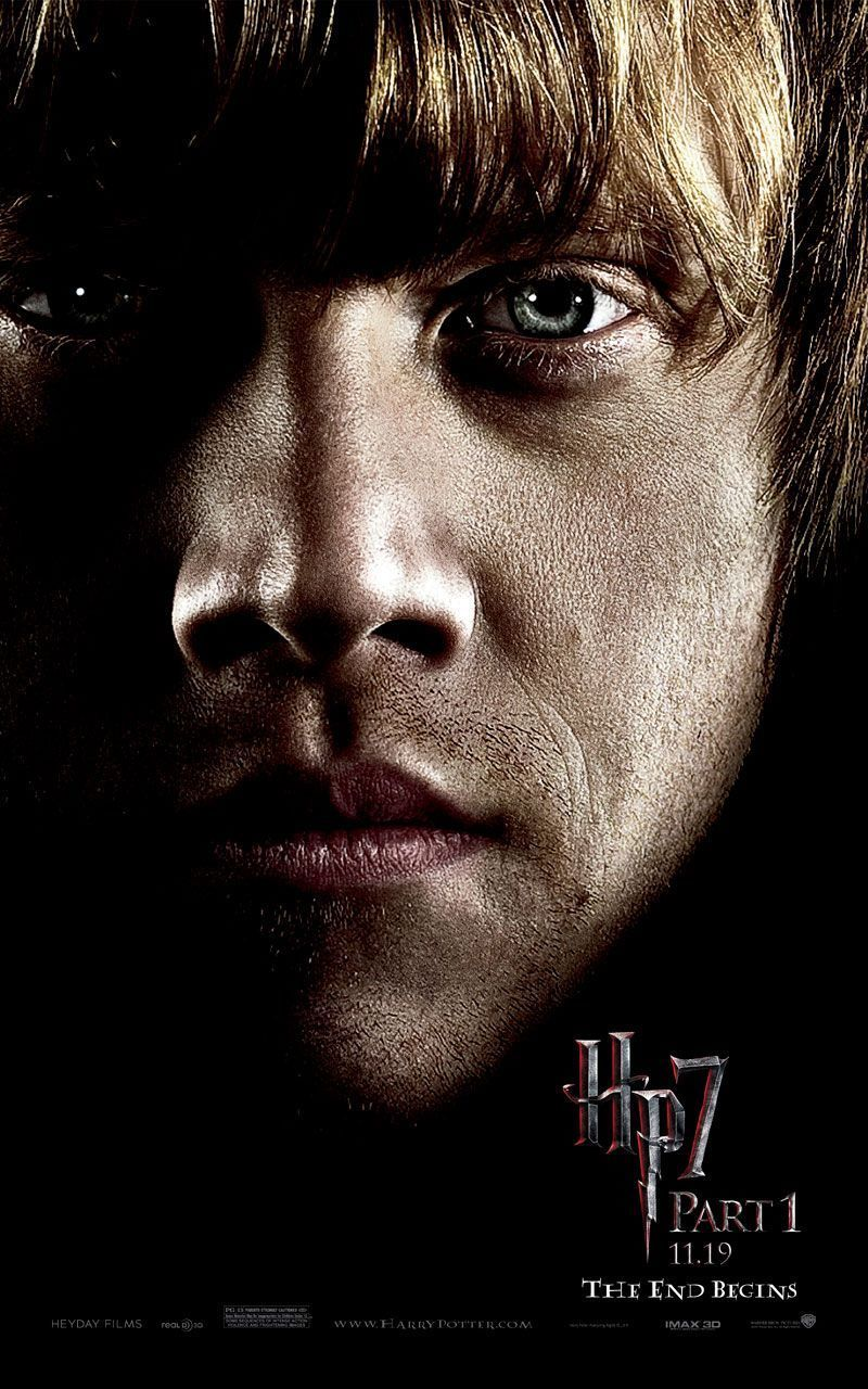 New Harry Potter And The Deathly Hallows Character Posters Weasley Harry Potter Harry Potter Ron Weasley Deathly Hallows Part 1