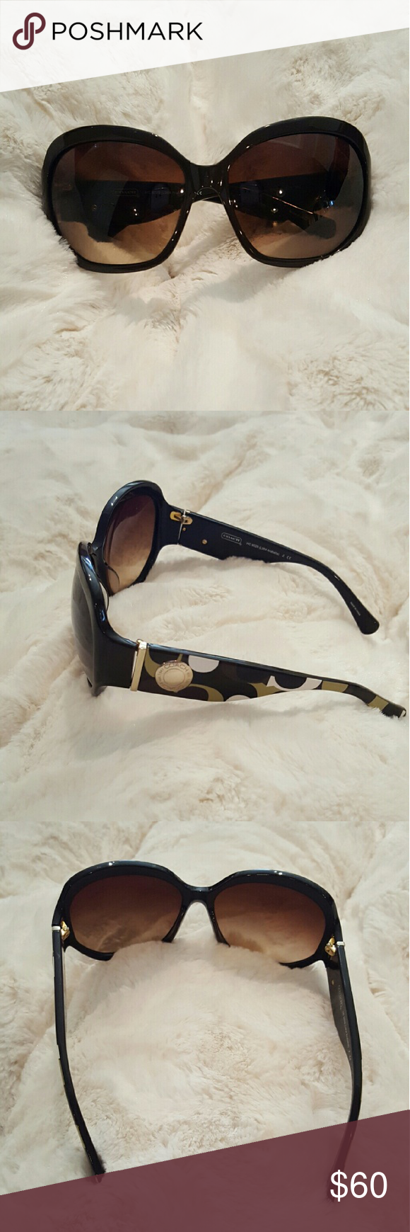 7ed69c1228965 Coach Arabella Sunglasses Brown Authentic Coach sunglasses. Used but look  like new. Shield your eyes from the sun s harsh UV rays with these schmancy  ...