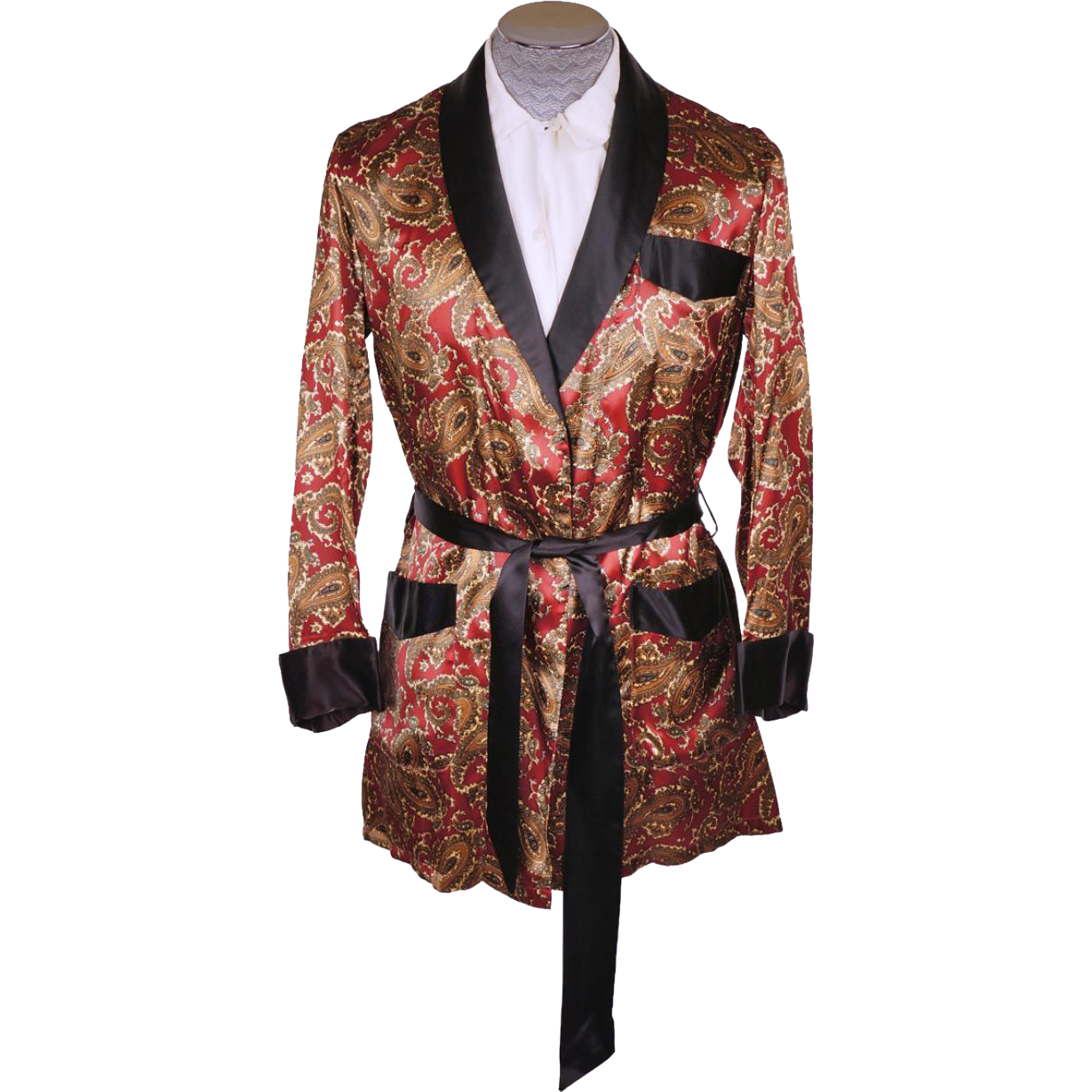 7f85ff359 Vintage 1950s Mens Smoking Jacket Short Lounging Robe Mister Ease by ...