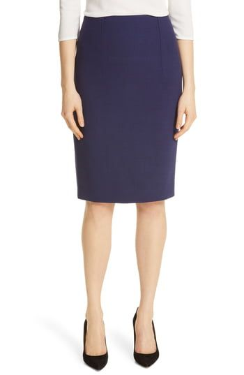 0eb52a731f BOSS Virera Ponte Pencil Skirt (Regular & Petite) in 2019 | The Most ...