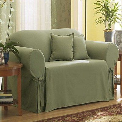 Sure Fit Cotton Duck Box Cushion Loveseat Slipcover Loveseat Slipcovers Slipcovers Slipcovers For Chairs
