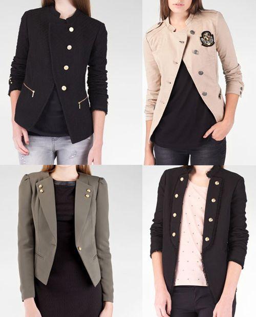 ed6de078323a5 chaqueta militar mujer - Buscar con Google