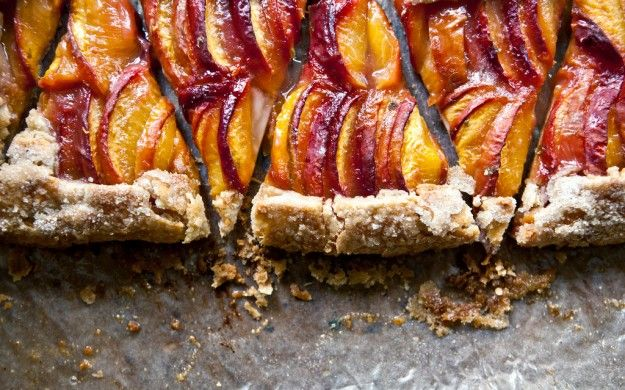 Tequila peach free-form pie--make for Dad's bday in June