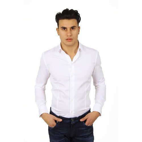 White 38 IT - 15 US Armani Collezioni mens shirt long sleeve RCCDCL RCC00 100