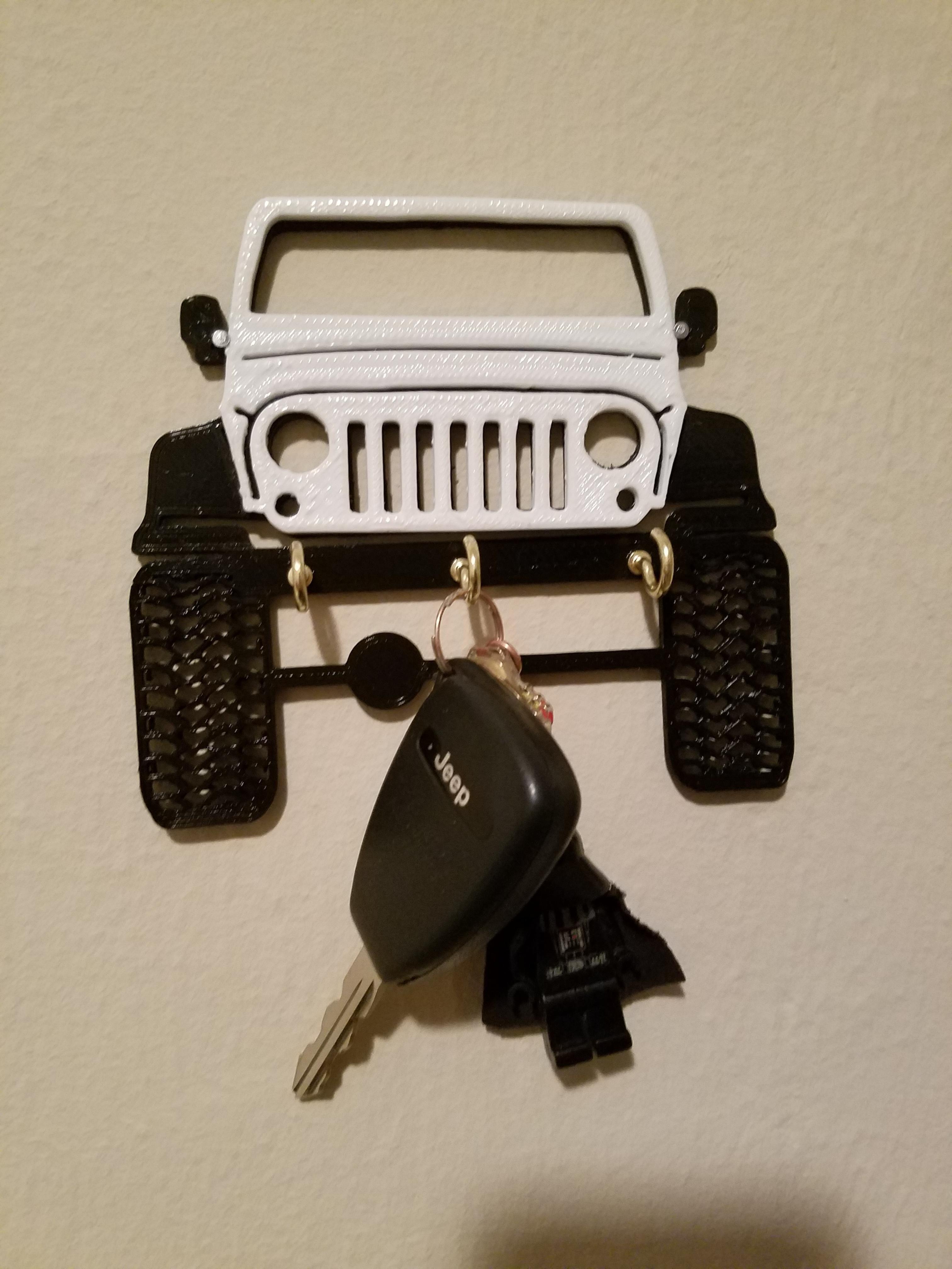 3d Printed Jeep Key Holder Jeep Jeeplife Wrangler Jeeps