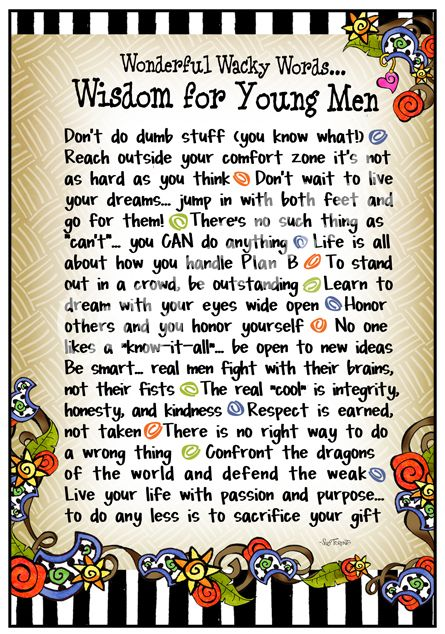 F965 - Wisdom for Young Men 8x10 Gifty Art | Son quotes ...