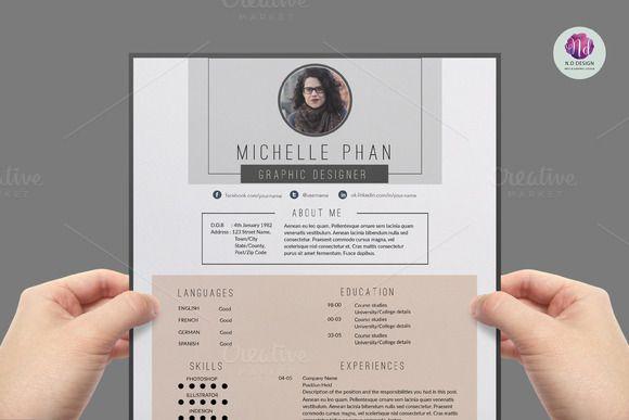 Modern Resume Template By Graphicsauthor  Resume Cv Templates