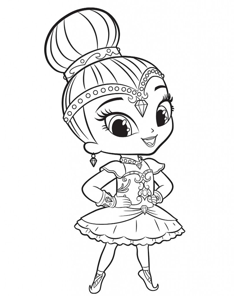 Shimmer and shine coloring pages con shimmer and shine for Shimmer and shine da colorare