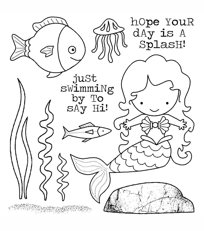 darcie u0027s cling mounted rubber stamps mermaid mermaid stamps