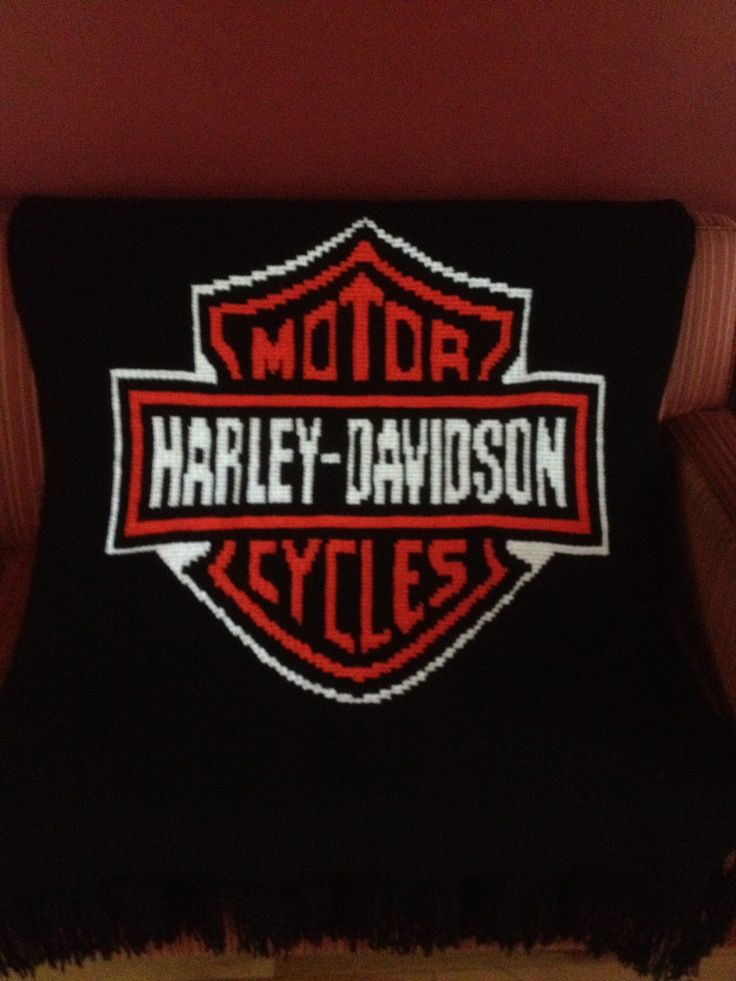 Crochet Afghans Harley Davidson Hand Made Harley Davidson Logo