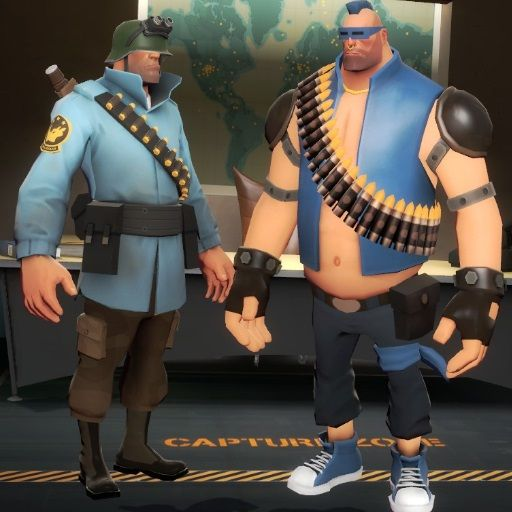Team Fortress 2 - you can play a Heavy with Gabe Newells