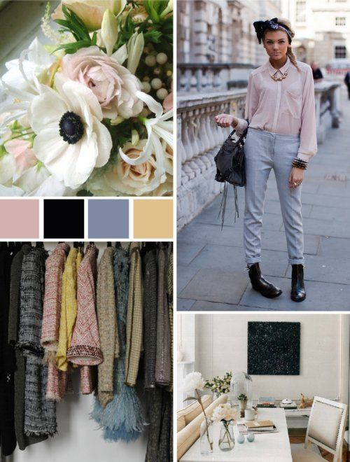 Subdued pastels