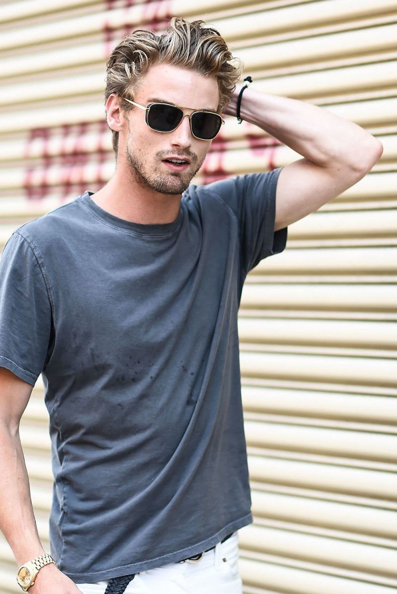 männerfrisur 2018 - 20 ideen von models auf fashion week