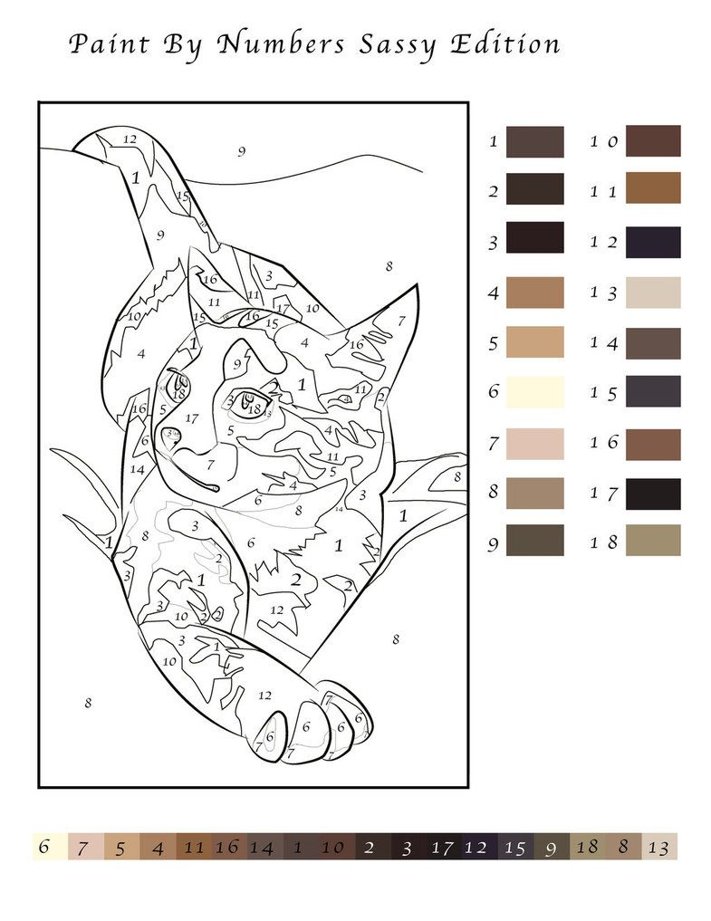 Paint By Number Cat By Ipuddingrox D5yuyf2 Jpg 785 1017 Paint By Number Pixel Art Templates Color By Number Printable