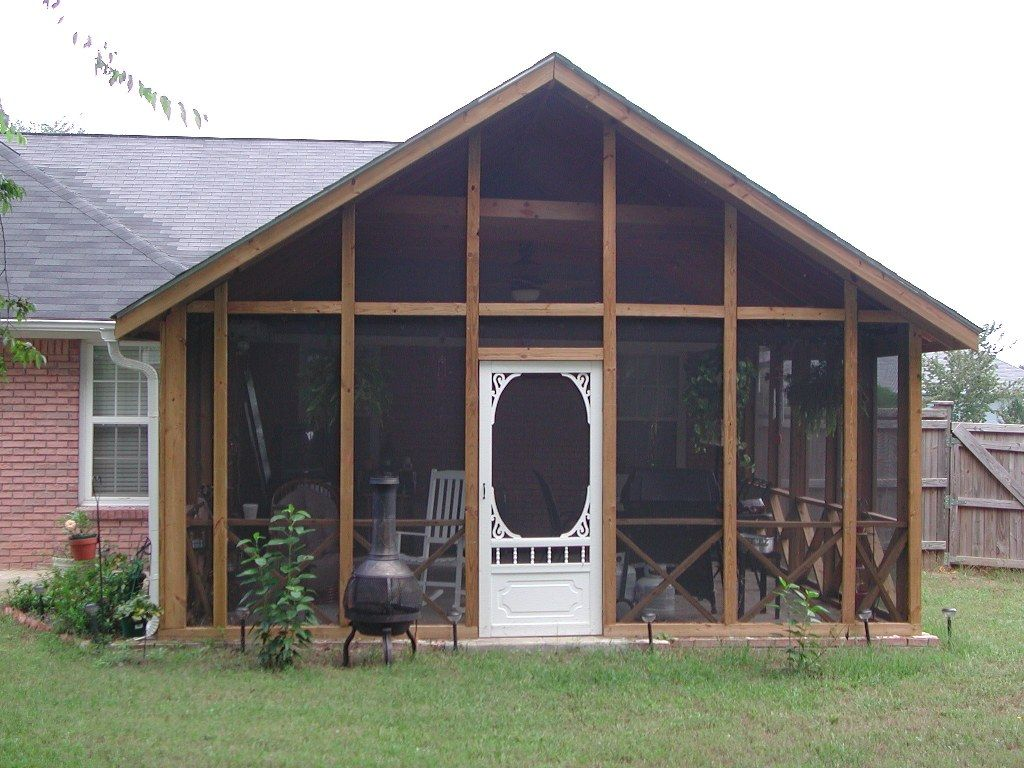Back porch plans free porch ideas screened porch plans for Screened in front porch