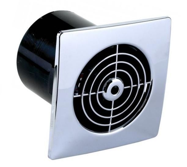 Slimline Extractor Fan Timed 4 100mm Chrome Manrose Bathroom Extractor Fan Bathroom Extractor Extractor Fans