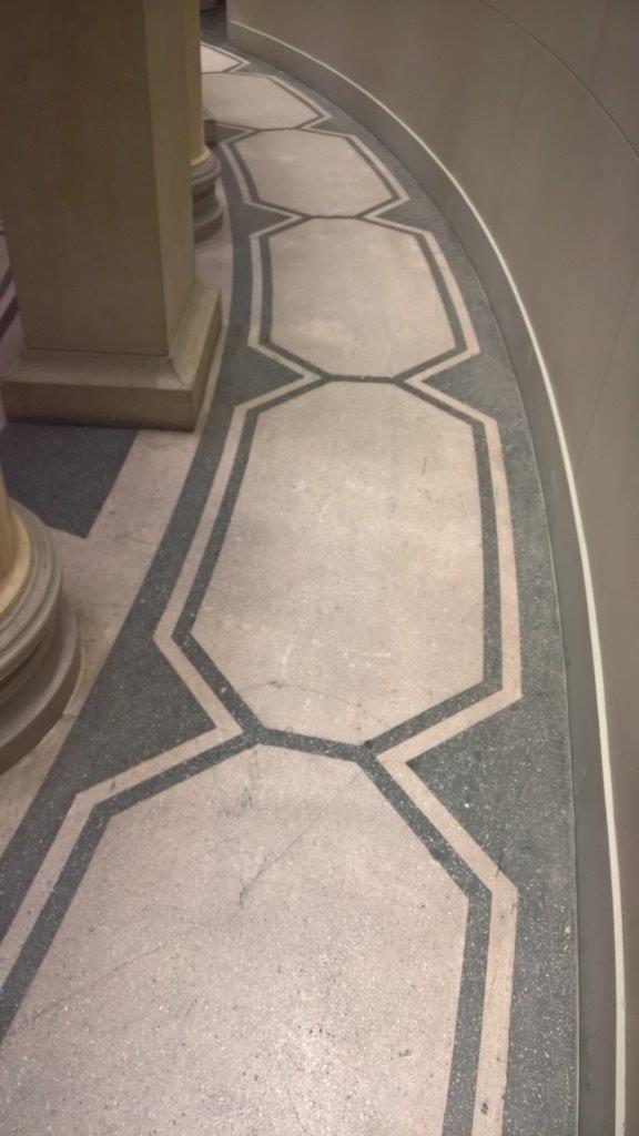 Terazzo Boden terrazzoboden in der rotunde des alten museum berlin entworfen