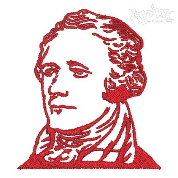 Alexander Hamilton Embroidery Design