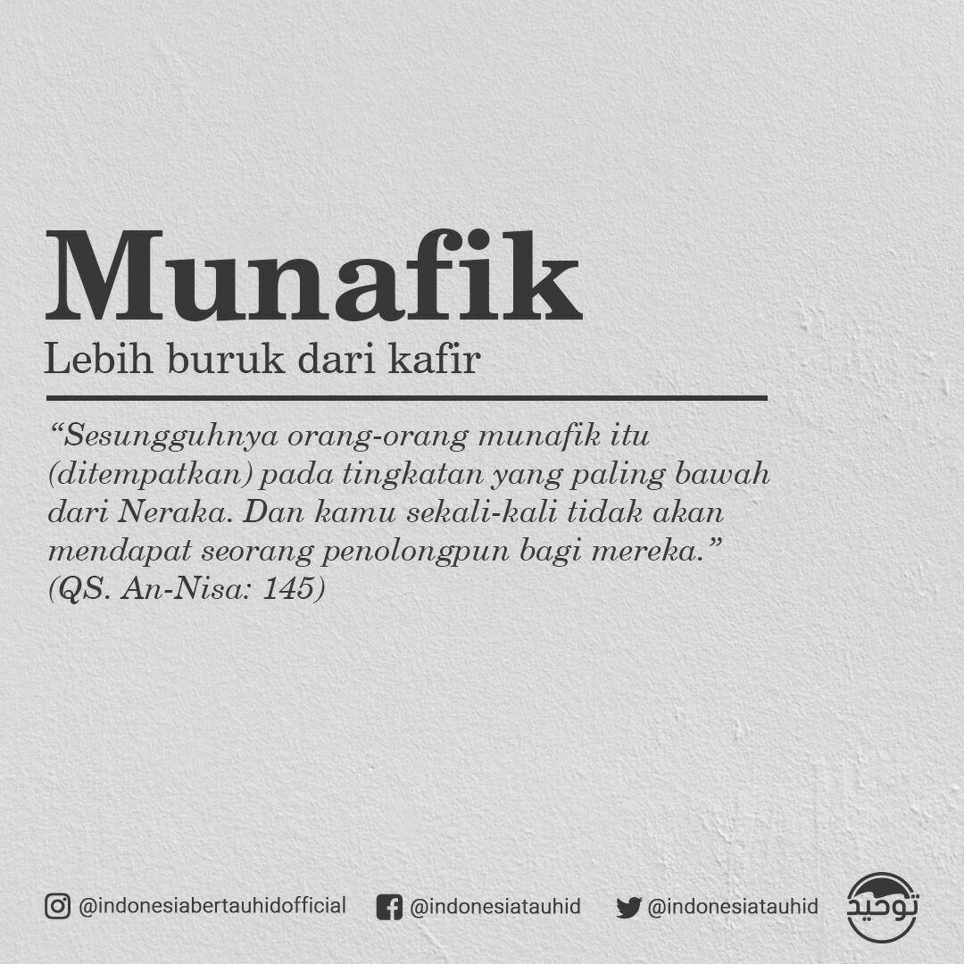 Munafiq Atau Munafik Kata Benda Dari Bahasa Arab منافق Plural