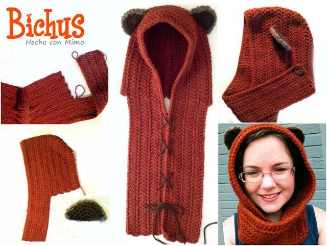 Capucha Ewok | Crochet. | Pinterest | Capucha, Gorro tejido y Rebecas