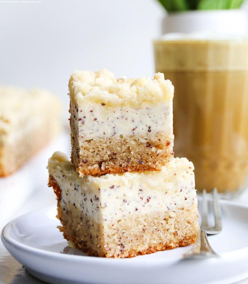saftiger Nuss-Mohn-Quark-Kuchen mit Tonka-Streuseln (WhatInaloves ❤) #sweetpie