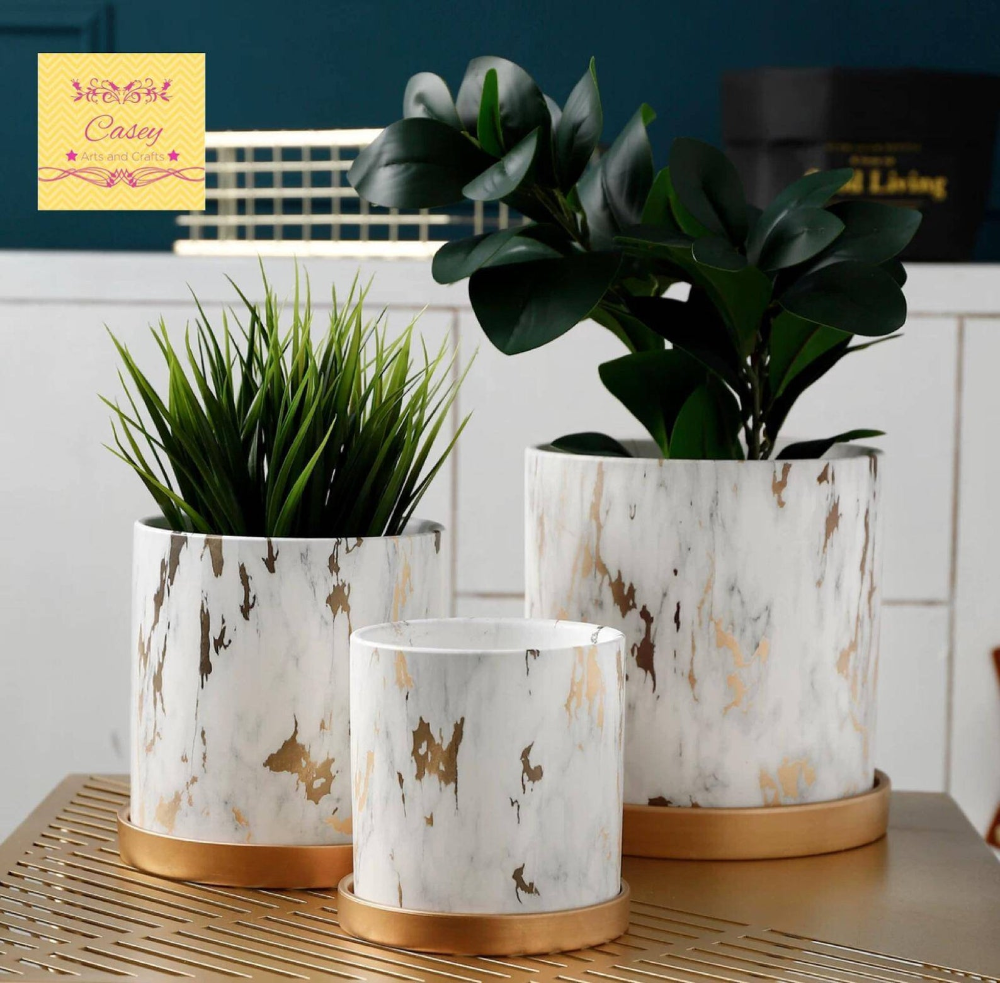 Modern Marble Planter With Drainage With Base Smoky Marble Ceramic Planter Indoor Planter Pot Planter Free Usa Shipping In 2020 Planter Pots Indoor Flower Pots Ceramic Flower Pots