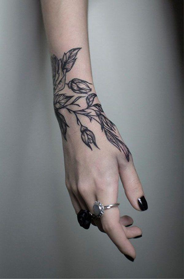 47 tatouages botaniques que vous allez adorer, #blacktattoo #botanic #the #loving #you … - Art Corporel