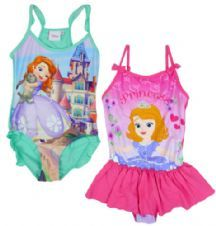 Girls Princess Sofia The First Swimming Costume Bathing Suit 2 To 8