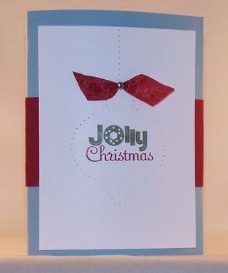 This is the outside of the Pop-up Christmas Tree card.  I used No Peeking and Festive Paper-Piercing Pack - Stampin' Up!