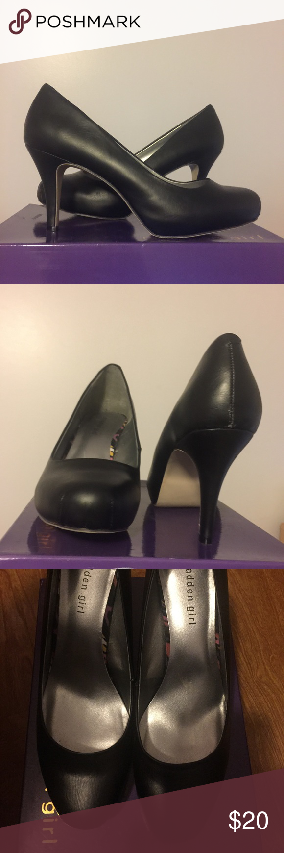 Madden Girl black Getta Pump size 11 Size 11. Black. New with box. Tried on never worn. Does have some wear from storage on backside of heels. See pics Madden Girl Shoes Heels