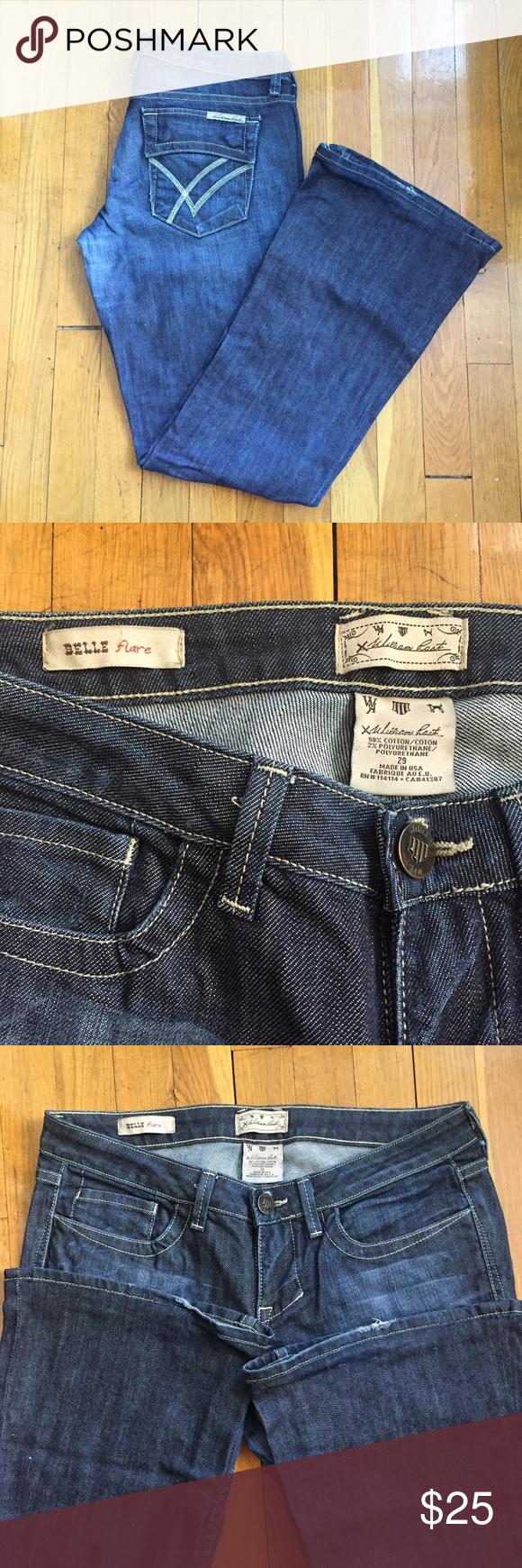 "William Rast Belle Flare Jeans - Sz. 29 Please note jeans were professionally hemmed - see last picture - original hem was kept. New inseam is approximately 31"". Very cute low rise, flare jeans! William Rast Jeans Flare & Wide Leg"