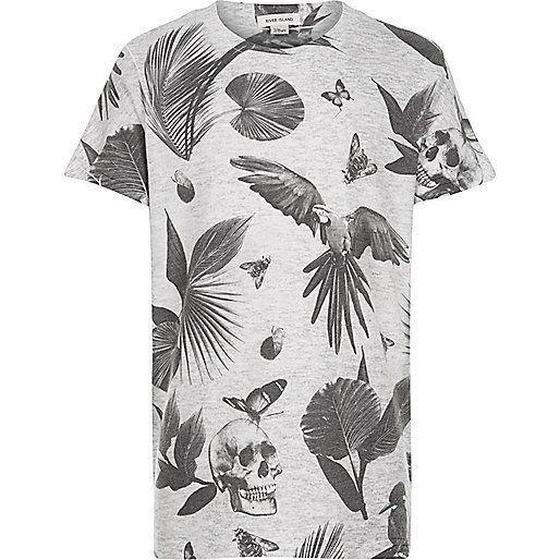 Boys white skull print t-shirt - print t-shirts - t-shirts - boys