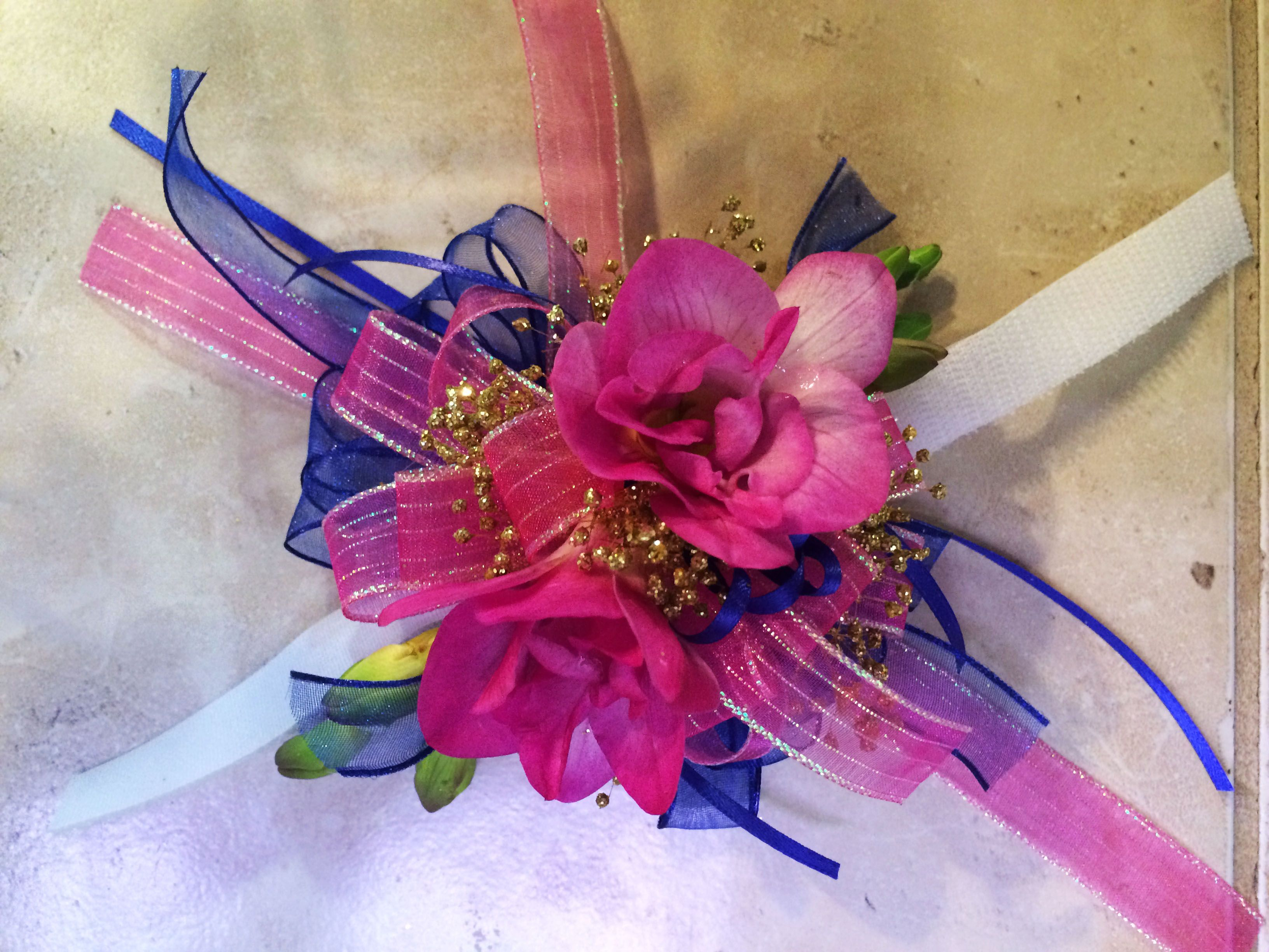 Corsage Magenta Fuchsia Wrist Corsage Hair Clip Bracelet Corsage Prom Corsage Homecoming Bracelet Corsage Flower Corsage Magenta Corsage