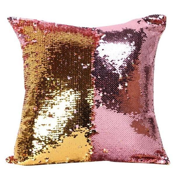 6c365e6c06ac Cover for Kids Super Soft Pillowcases 40 x 40 cm Glitter Sequins Solid  Color Pillow Case Sequins Pillow