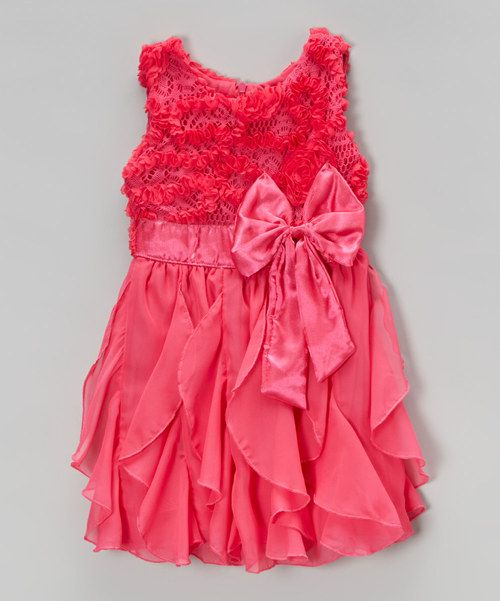 Look at this Hot Pink Ruffle Dress - Infant, Toddler & Girls on #zulily today!