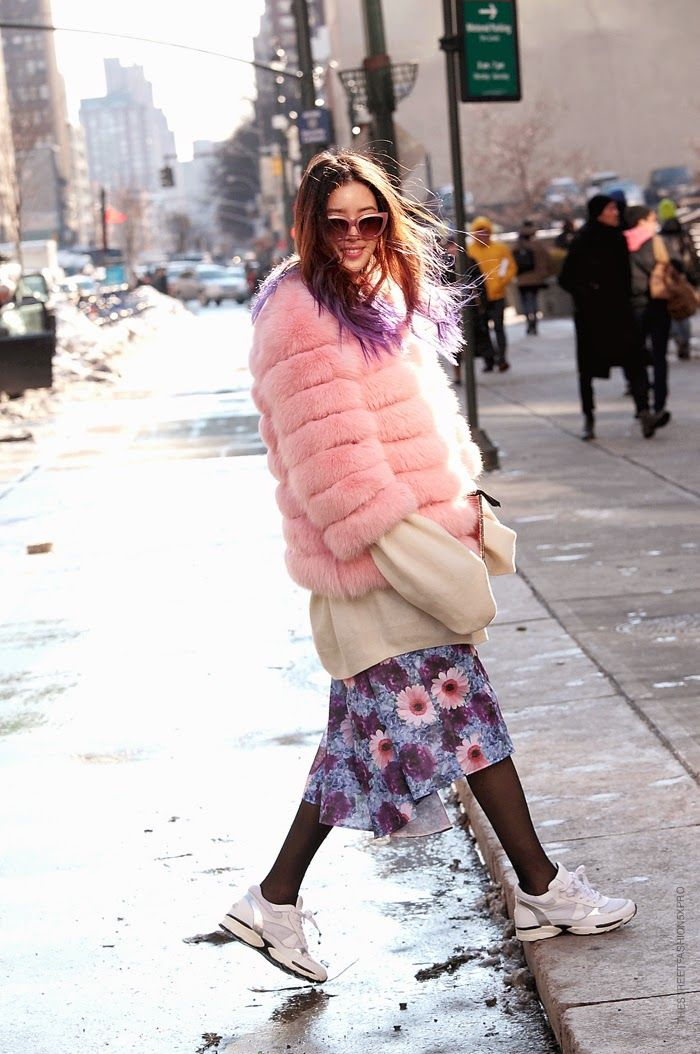 fuzzy wuzzy pink + layers. NYC.