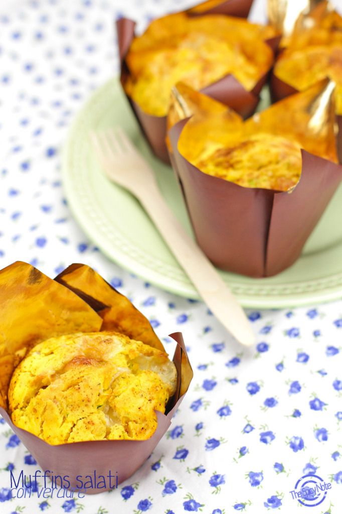 Muffins salati alle verdure _ Senza glutine, Senza lattosio, Vegetariani :-)