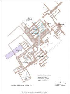 Grundriss des Palastes der 15. Dynastie