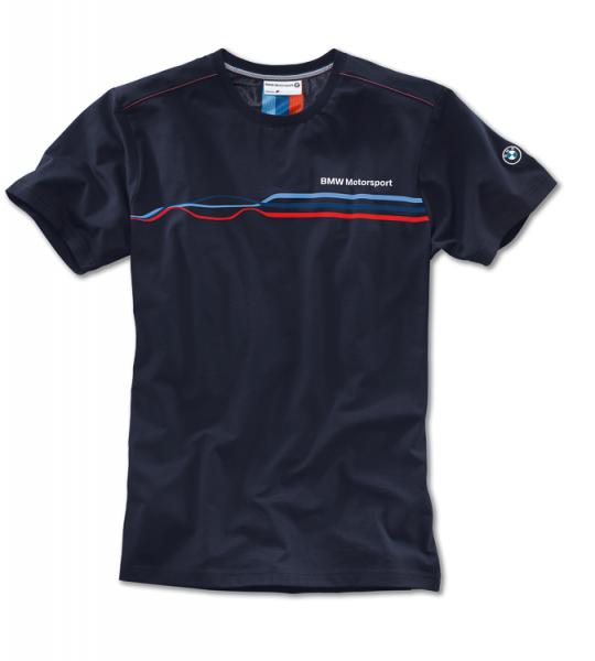 BMW Men's Large Navy Fashion Motorsport T-Shirt (3129)