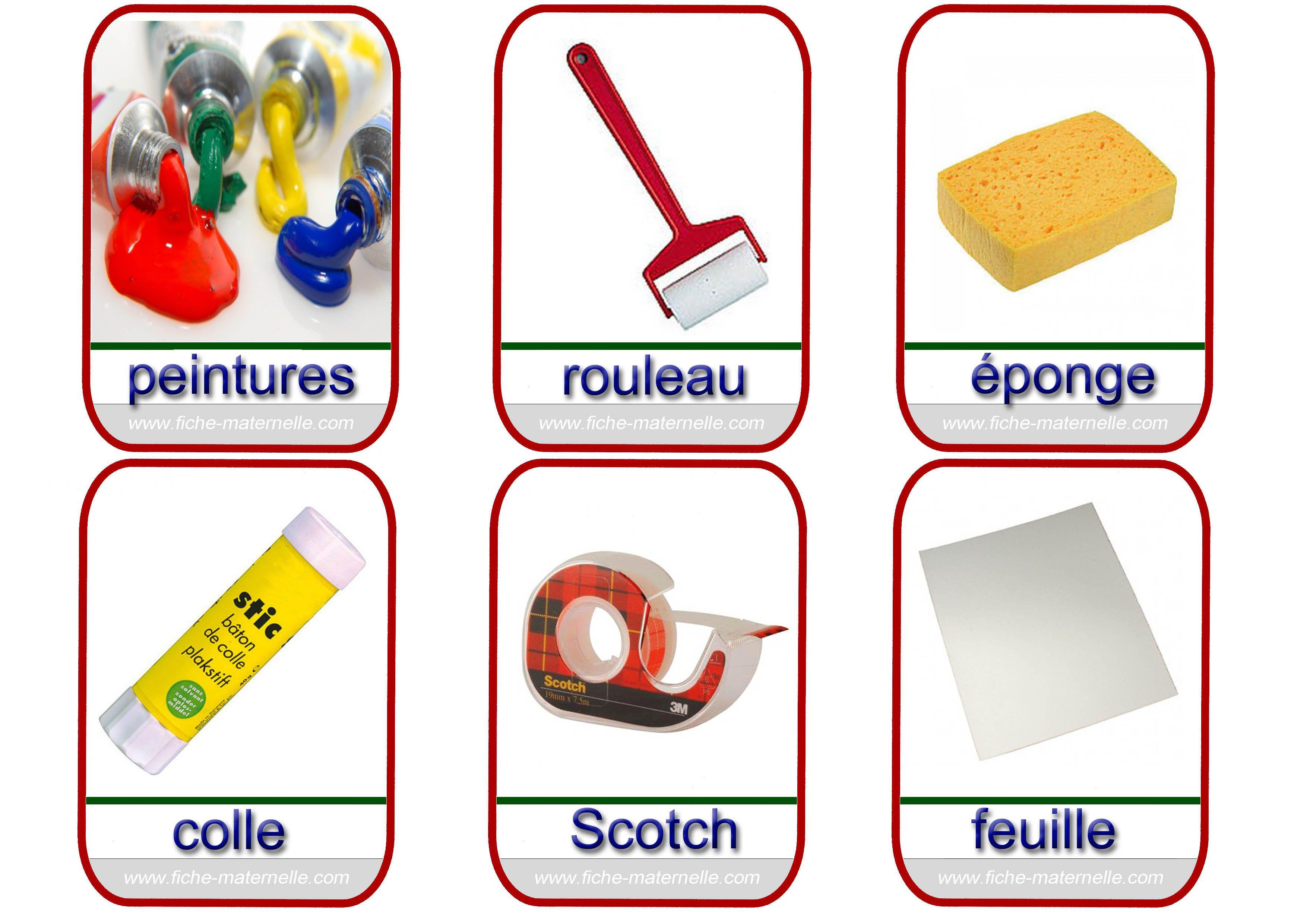 Très Imagier les outils de la classe 4 | Matern.2 PS : Matière/Objets  PJ57