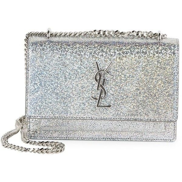 9809f885f5 Saint Laurent Sunset Monogram Metallic Sparkle Chain Wallet ( 1