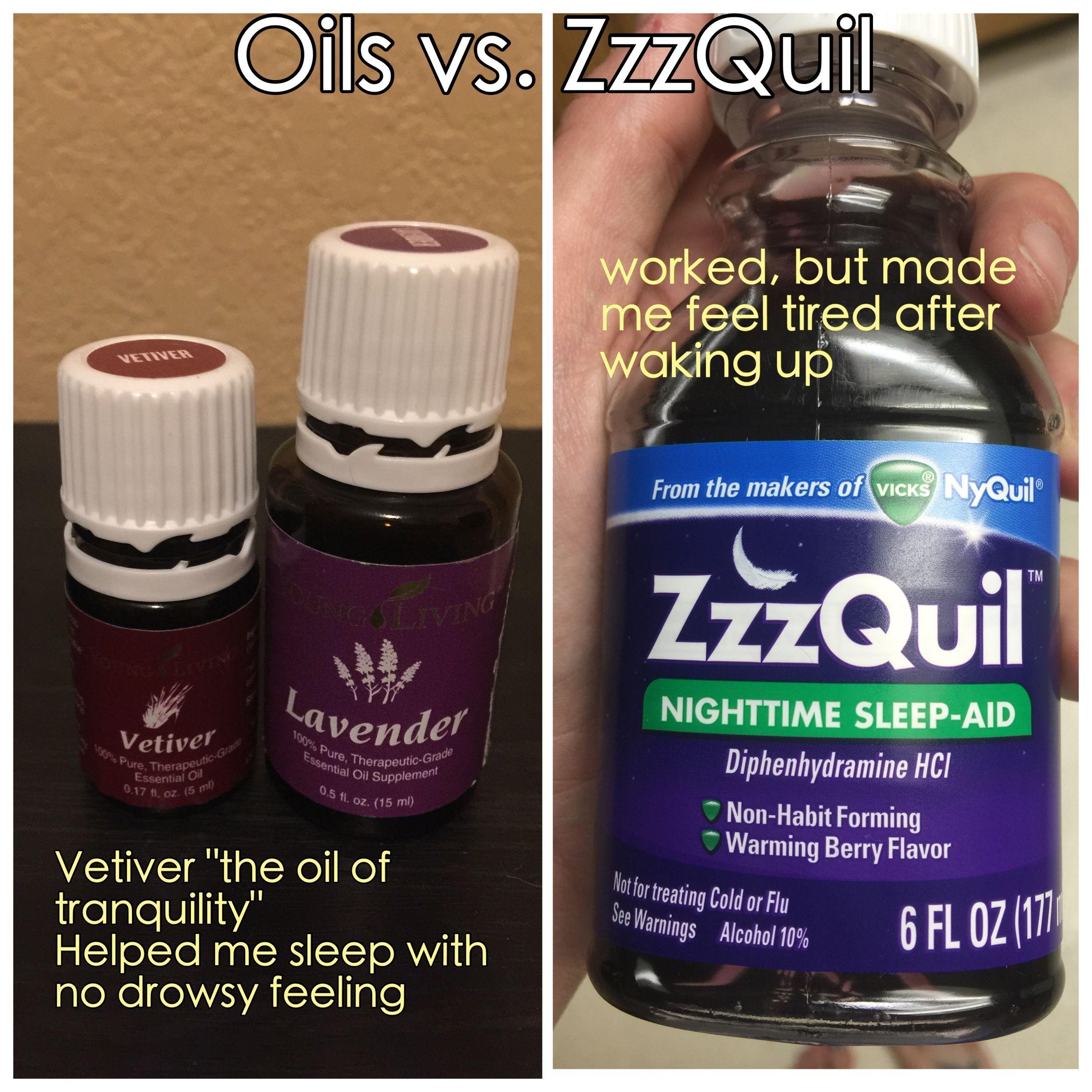 Essential Oils Vs Zzzquil Www Oilthatjazz Com Oils Nighttime Sleep Aid Habit Forming