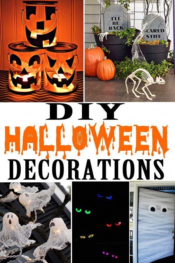 Halloween decorations! The best DIY Halloween decorations for outside or inside. Creepy, spooky ideas that are fun for kids, adults and families. Great for yards, outdoor, Halloween party & more. Find cheap and cute ideas to make your home look spooktacular. Make these easy homemade DIY Halloween crafts today! #cheaphomedecorcraftideas #diyhalloweendecorationsforinside Halloween decorations! The best DIY Halloween decorations for outside or inside. Creepy, spooky ideas that are fun for kids, adu #diyhalloweendecorationsforinside