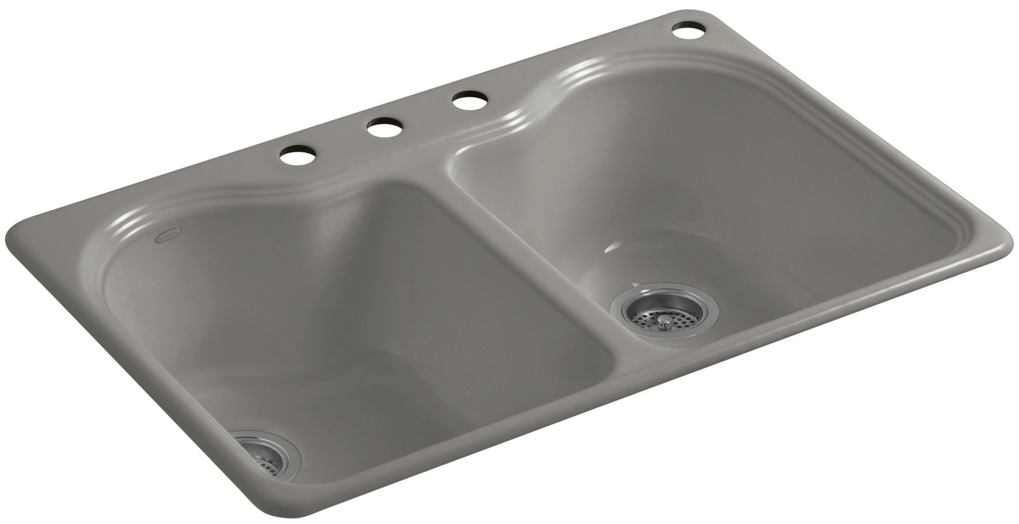 """Hartland 33"""" x 22"""" x 9-5/8"""" Top-Mount Double-Equal Kitchen Sink with 4 Faucet Holes"""
