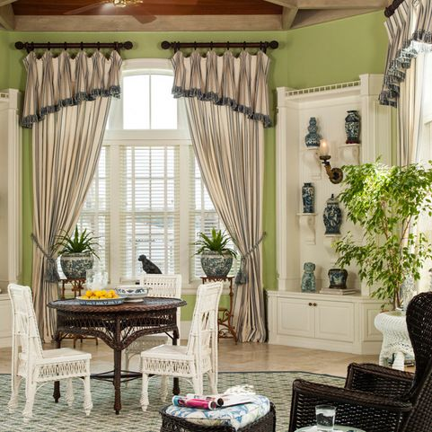 Classic Coastal Style Home Traditional Sunroom Miami Taylor Taylor Inc Drapery Designs Florida Design Coastal Style